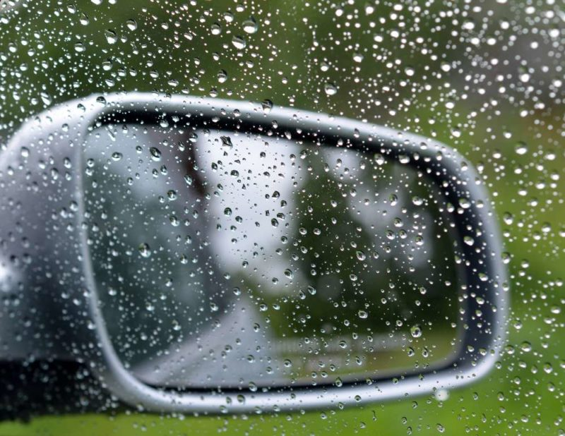 Mirror, mirror: Take a good hard look at your car before setting off in rainy conditions.