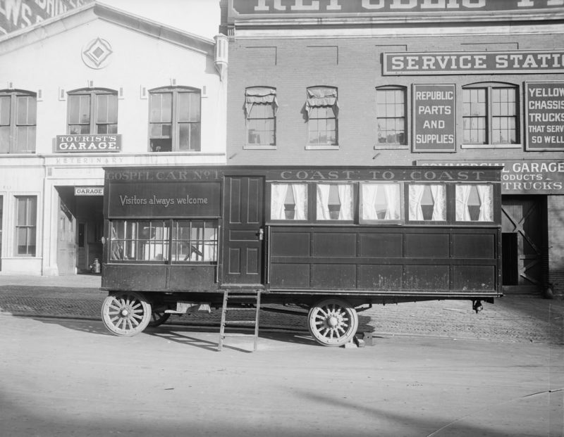 1919 Gospel Car Number 1 belonged to a preacher and featured a mobile pulpit and organ.