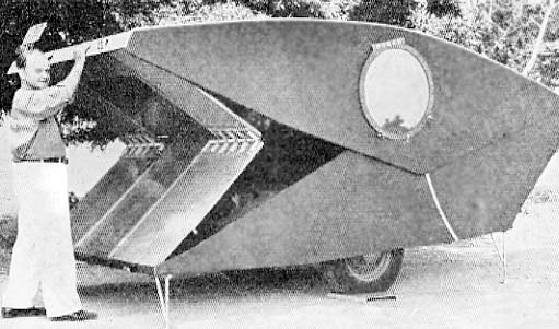 This pop up trailer was featured in the 1939 edition of Popular Mechanic